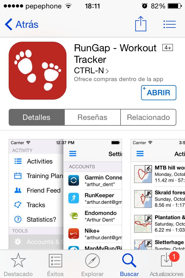 RunGap para iOS