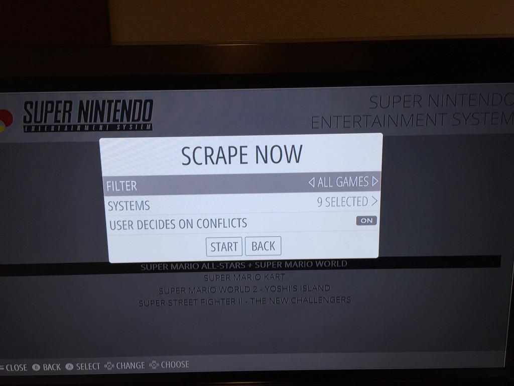 RetroPie - Opciones Scraper Now
