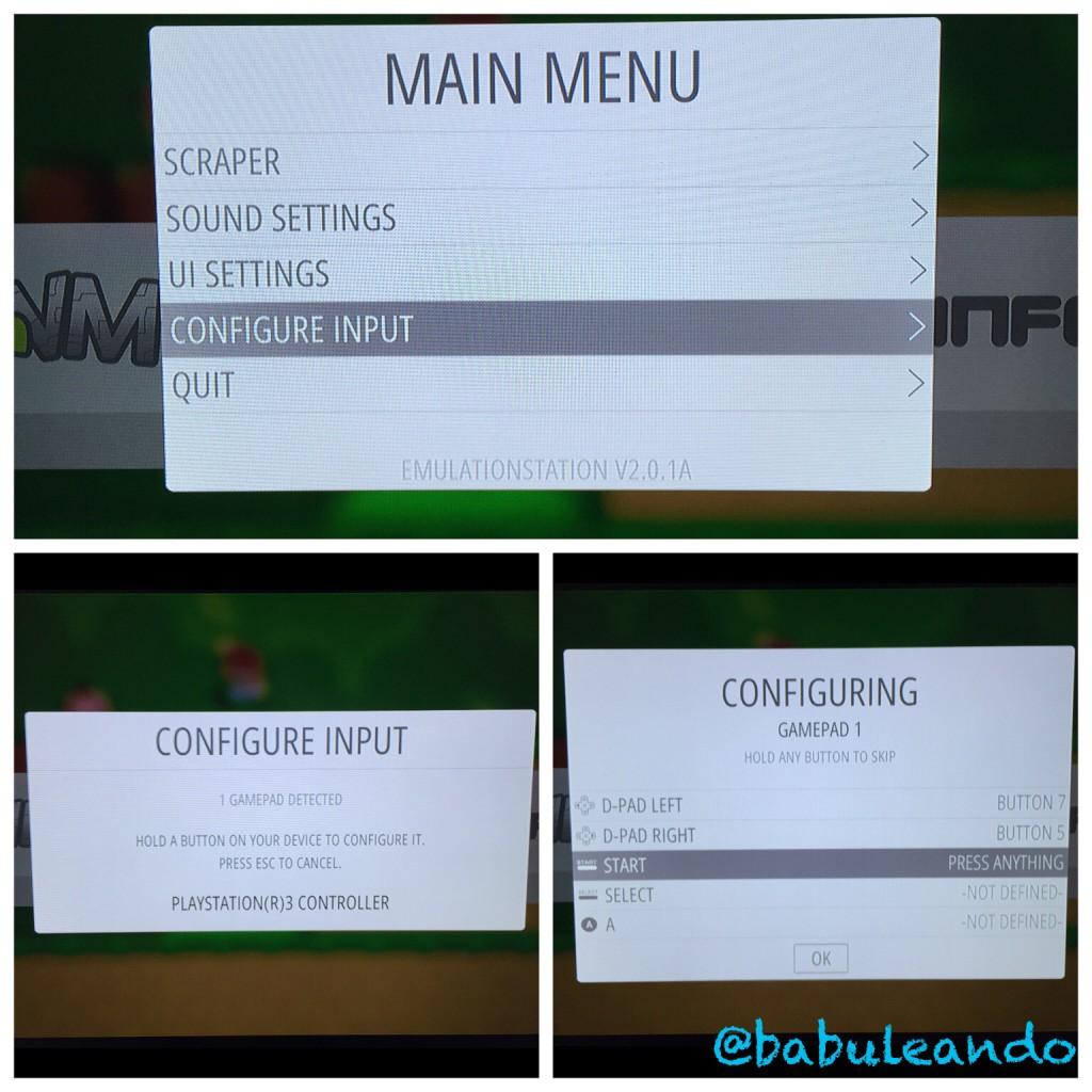 Configuración de botones para el mando de PS3