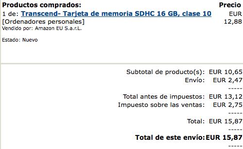 Transcend- Tarjeta de memoria SDHC 16 GB, clase 10