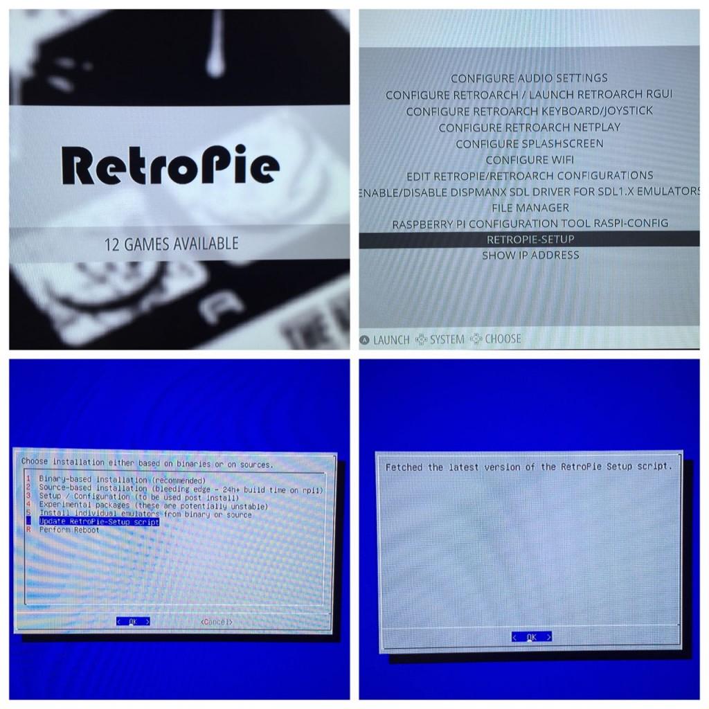 Actualización script RetroPie-Setup