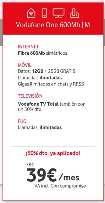 Oferta de Vodafone - Septiembre 2018