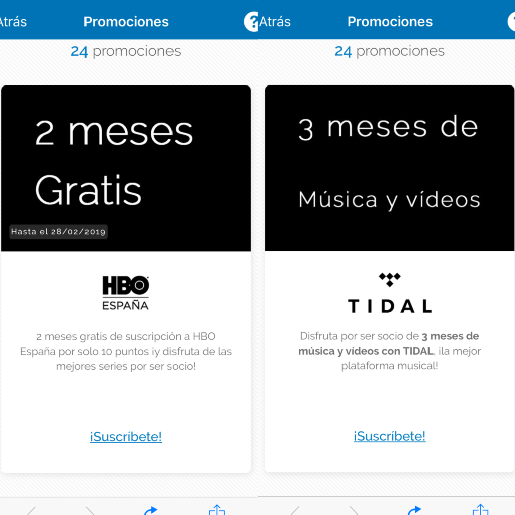 Promociones HBO y Tidal en Travel Club
