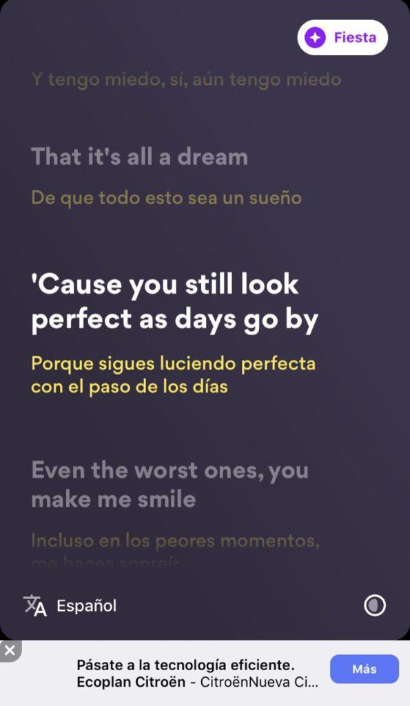 Musixmatch - Letra en inglés con traducción simultánea